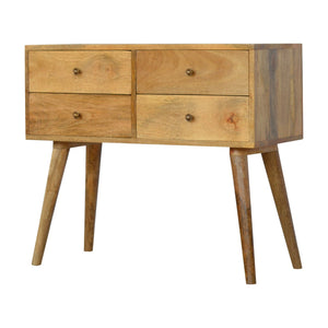 Nordic Style Console Table 4 Drawer made from solid mango wood. Crafted to perfection. Exclusive solid wood furniture only available at thecarpenters.co.uk furniture at its finest
