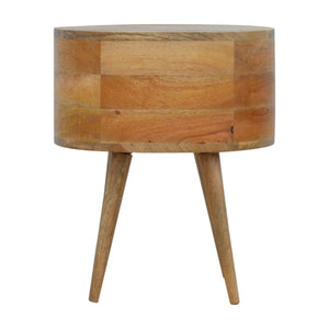 Nordic Style Rounded Bedside Table. Simple yet classic addition to your bedroom. Hand-crafted to perfection. Exclusively available at thecarpenters.co.uk.