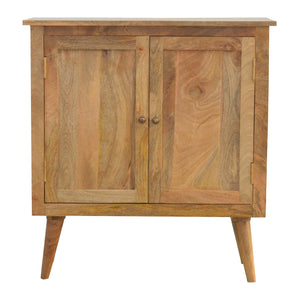 Nordic style cabinet 2 doors handcrafted to perfection. Solid wood mango furniture exclusively available at thecarpenters.co.uk