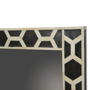 Ossein Inlay Frame with Mirror. Elegant addition to your collection. Beautifully hand-crafted solid wood mirror. Exclusively available at thecarpenters.co.uk.