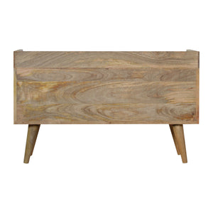 Ossein Inlay Gallery Back Media Unit. Beautifully hand-crafted. Perfect in your bedroom or living room. Exclusively available at thecarpenters.co.uk.