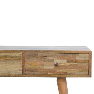 Patchwork Patterned Console Table. Beautifully hand-crafted solid wood furniture. Exclusively available at thecarpenters.co.uk.