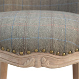Petite Multi Tweed French Chair. Simple yet elegant addition to your home. Hand-crafted to perfection. Exclusively available at thecarpenters.co.uk.