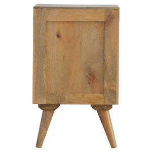 Petite Nordic Style Multi Drawer Bedside Table. Simple yet elegant hand-crafted solid wood furniture. Perfect for any bits and pieces you might need near your bed. Exclusively available at thecarpenters.co.uk.