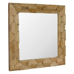 Pineapple Carved Square Mirror. Beautifully hand-crafted solid wood perfection. Add this classy mirror to your home. Exclusively available at thecarpenters.co.uk.