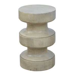Roman Style Occasional Stool. Petite looking hand-crafted solid wood furniture. Great addition to your bedroom or living room. Made with your comfort in mind. Exclusively available at thecarpenters.co.uk.