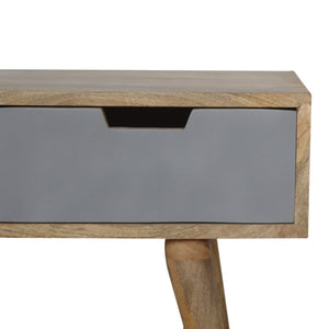 Scandinavian Grey Painted 3-Drawer Media Unit. Hand-crafted to perfection. Simple design to match any furniture at home. Exclusively available at thecarpenters.co.uk.