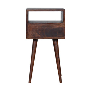 Scandinavian Petite Cherry Finish Bedside. Beautifully hand-crafted solid wood furniture. Exclusively available at thecarpenters.co.uk.