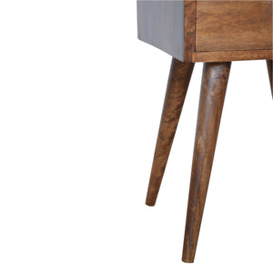 Scandinavian Petite Chestnut Bedside. Hand-crafted to perfection. Classic style for your home. Exclusively available at thecarpenters.co.uk.