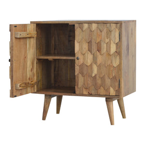Scandinavian Pineapple Carved 2-Door Cabinet. Beautifully hand-crafted solid wood furniture. Exclusively available at thecarpenters.co.uk.