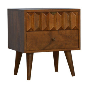 Solid Wood Chestnut Prism Bedside. Beautifully hand-crafted solid wood furniture. Exclusively available at thecarpenters.co.uk.
