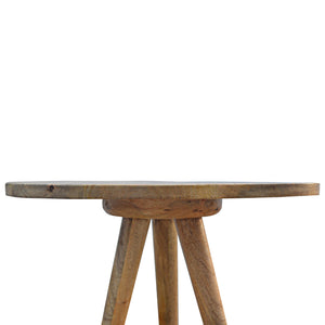 Solid Wood Triangular Tripod Stool. Beautifully hand-crafted solid wood furniture. Exclusively available at thecarpenters.co.uk.