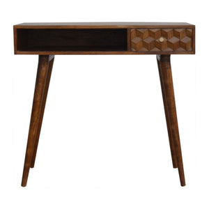 Sonata Carved Writing Desk. Solid wood furniture only available at thecarpenters.co.uk