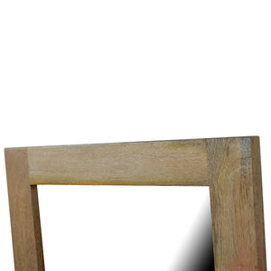 Square Wooden Frame with Mirror. Beautifully hand-crafted solid wood furniture. Exclusively available at thecarpenters.co.uk.