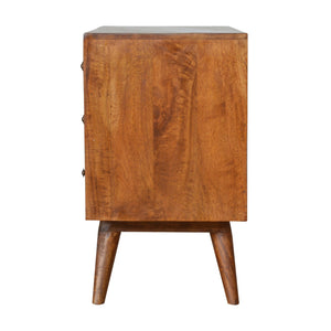 Tambour Carved Chestnut Storage Cabinet. Hand-crafted to perfection. Elegant addition to your home. Exclusively available at thecarpenters.co.uk.