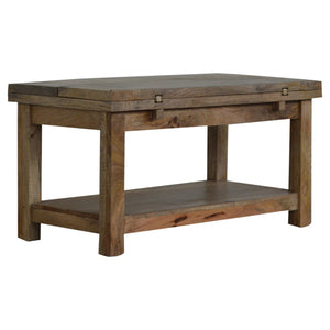 Trilogy Coffee Table with 1 Shelf. Beautifully hand-crafted solid wood furniture. Exclusively available at thecarpenters.co.uk.
