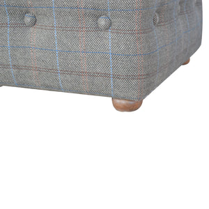 Verbogene Footstool Upholstered In Multi Tweed. Multi-purpose footstool hand-crafted to perfection. Exclusively available at thecarpenters.co.uk.