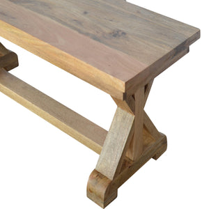 Verino Trestle Hallway Bench solid wood furniture, exclusively available at thecarpenters.co.uk. Furniture at its finest