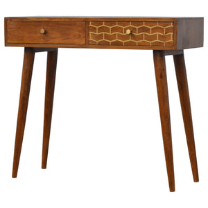 Art nouveau Gold Pattern Console Table. Hand-crafted to perfection. Exclusively available at thecarpenters.co.uk.