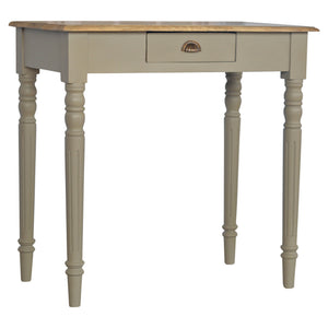 beautiful Vintage Hand Painted Writing Desk one drawer. Exclusive solid mango wood furniture only at the carpenters.co.uk