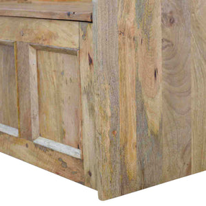 Solid wood large storage bench in oak effect
