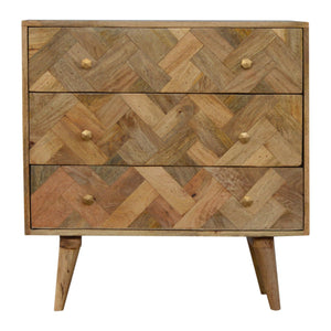 Zig-Zag Patterned Patchwork Chest
