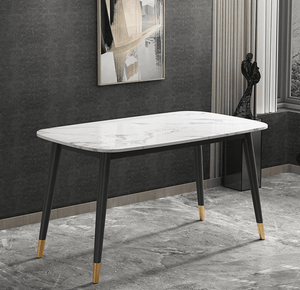Alexander Marble Dining Table White