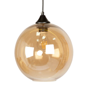 Amber Glass Dome Pendant Light