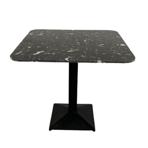Artist Square Black Dining Table with Black Leg 85cm