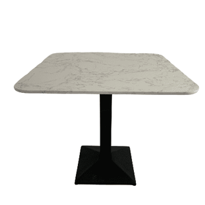 Artist Square White Dining Table with Black Leg 85cm