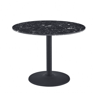 Luxury Black Round Dining Table 80cm with Black Leg