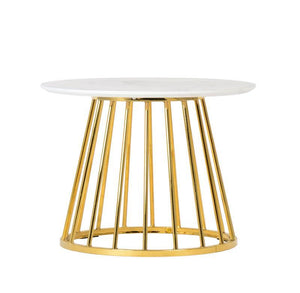 Liverpool Coffee Table (60cm) White Marble with Gold legs
