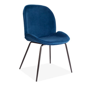 2 pcs Journey Stool with Blue Seat and Black Legs