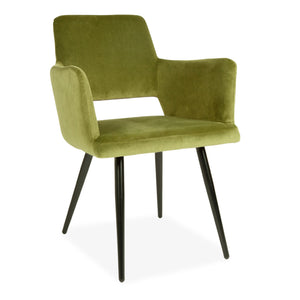 2 pcs Green Velvet Harrod Chair