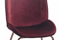 Journey Bordeaux Red Chair Stool with Gold Legs