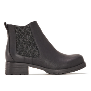 Women's Chelsea Ankle Boot with Side Zip in Black