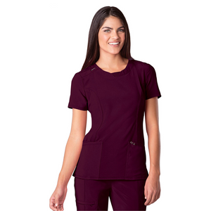 Women's Infinity Scrub Top in Wine