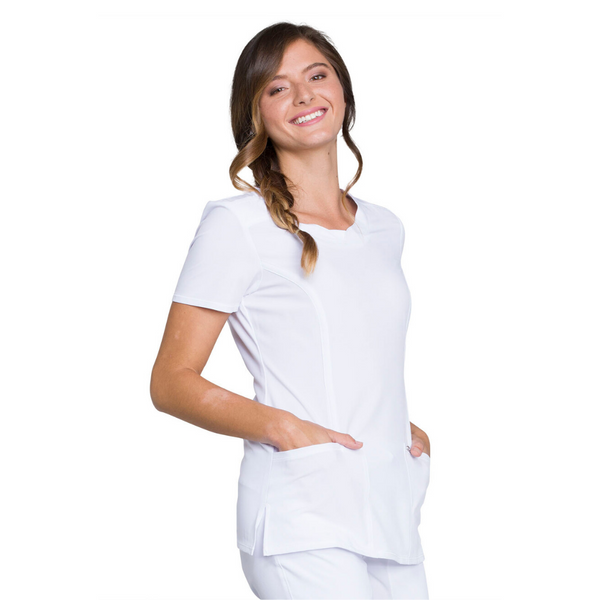 Women's Infinity Scrub Top in White