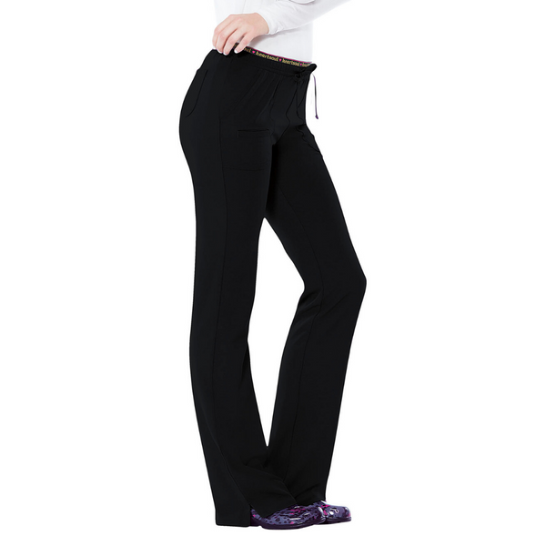 Women's HeartSoul Drawstring Scrub Pant (Petite Lenght) in Black