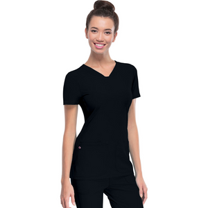 Women's HeartSoul Scrub Top in Black