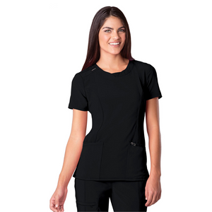 Women's Infinity Scrub Top in Black