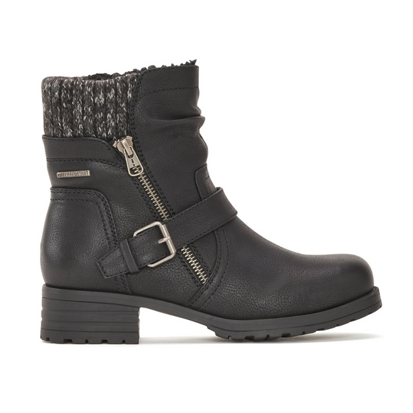Women's Ankle Boot with Side Zip in Black
