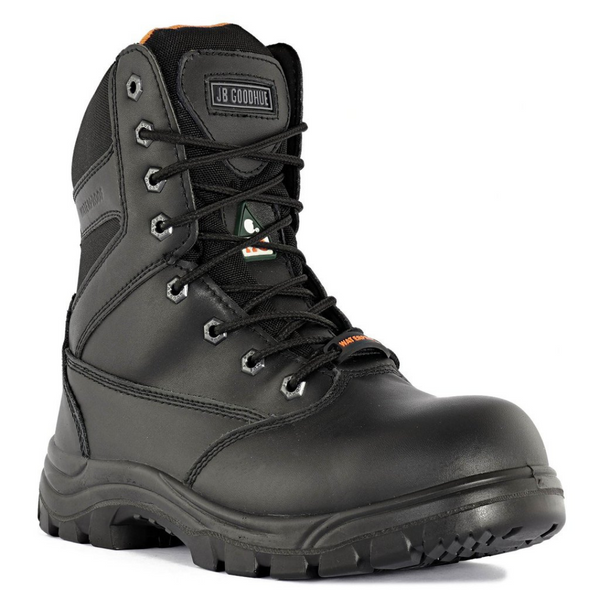 Unisex JET 8-inch Black CSA Work Boot w/Side Zip By JB GOODHUE
