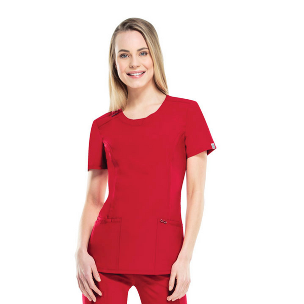Women's Infinity Scrub Top in Red