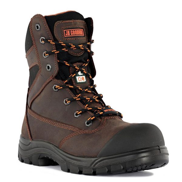 Unisex JET 8-inch Brown CSA Work Boot By JB GOODHUE