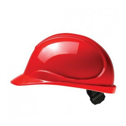 The Wave Red Hard Hat: CSA Type 2, Class E, Ratchet Suspension