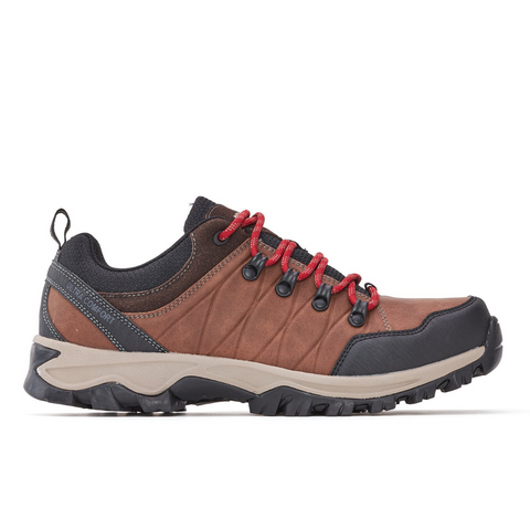 Men's Walking/Hiking Lace-Up Shoe in Brown
