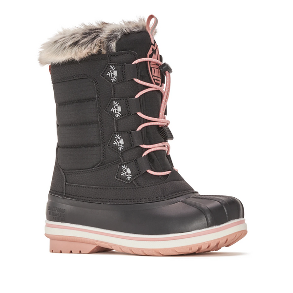 Girl's -40C Waterproof Winter Boot Sylvia in Black