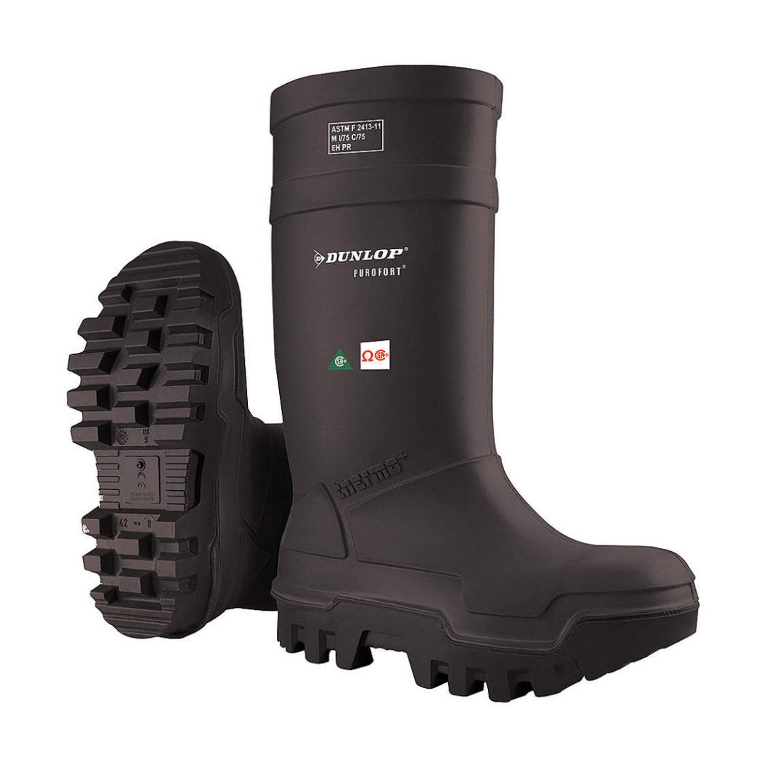 DUNLOP Black ESR Purofort Thermo+ CSA Steel Toe Rubber Boot