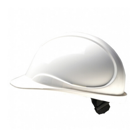 The Wave White Hard Hat: CSA Type 2, Class E, Ratchet Suspension